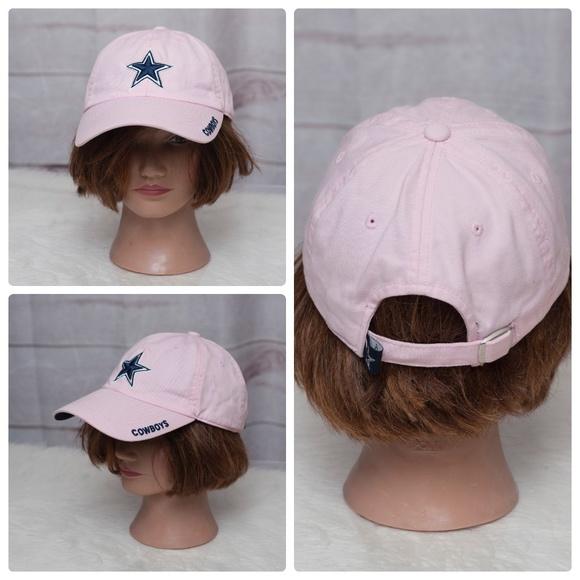 Women s Dallas Cowboys Pink Strapback OS Hat NFL. M 5ab65fc972ea88435e7674d1 98275b1f0e